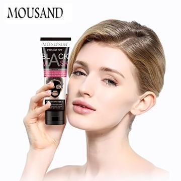 Mousand Blackhead Remover Maske, Peel Off Black Maske, Clear Pores & Akne, Aktivkohle Cleansing Removal Streifen Maske - 2