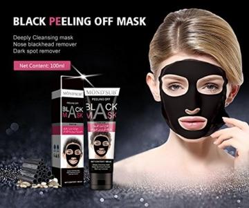 Mousand Blackhead Remover Maske, Peel Off Black Maske, Clear Pores & Akne, Aktivkohle Cleansing Removal Streifen Maske - 3