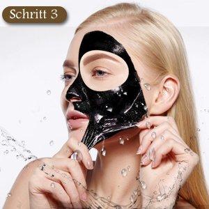 schwarze maske abziehen