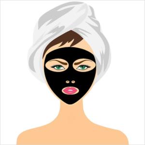 schwarze Maske gegen Mitesser