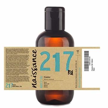 Naissance kaltgepresstes Rizinusöl (Nr. 217) 100ml - reines, natürliches, veganes, hexanfreies, gentechnikfreies Öl - pflegt und spendet Feuchtigkeit für Haare, Wimpern und Augenbrauen - 2