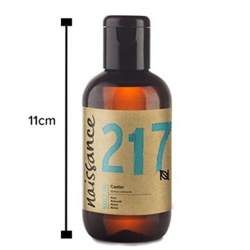 Naissance kaltgepresstes Rizinusöl (Nr. 217) 100ml - reines, natürliches, veganes, hexanfreies, gentechnikfreies Öl - pflegt und spendet Feuchtigkeit für Haare, Wimpern und Augenbrauen - 3