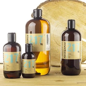 Naissance kaltgepresstes Rizinusöl (Nr. 217) 100ml - reines, natürliches, veganes, hexanfreies, gentechnikfreies Öl - pflegt und spendet Feuchtigkeit für Haare, Wimpern und Augenbrauen - 4