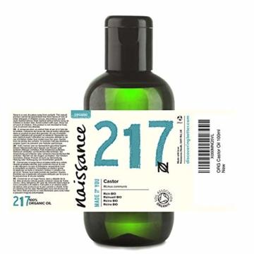 Naissance Rizinusöl BIO (Nr. 217) 100ml - reines, natürliches, BIO zertifiziertes, kaltgepresstes, veganes, hexanfreies, gentechnikfreies Öl - pflegt und spendet Feuchtigkeit für Haare, Wimpern und Augenbrauen - 2