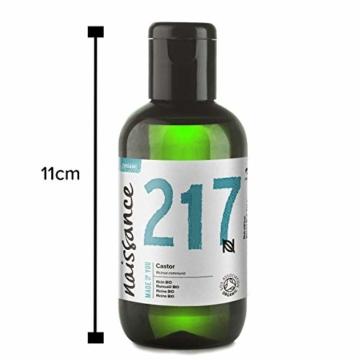 Naissance Rizinusöl BIO (Nr. 217) 100ml - reines, natürliches, BIO zertifiziertes, kaltgepresstes, veganes, hexanfreies, gentechnikfreies Öl - pflegt und spendet Feuchtigkeit für Haare, Wimpern und Augenbrauen - 3