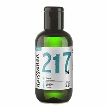 Naissance Rizinusöl BIO (Nr. 217) 100ml - reines, natürliches, BIO zertifiziertes, kaltgepresstes, veganes, hexanfreies, gentechnikfreies Öl - pflegt und spendet Feuchtigkeit für Haare, Wimpern und Augenbrauen - 1